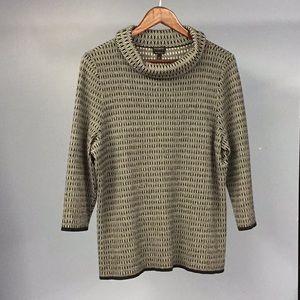 Talbots Merino Wool Black & White Sweater